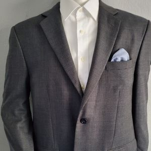 Joesph & Fiess Wool Geometric Sport Coat 44R